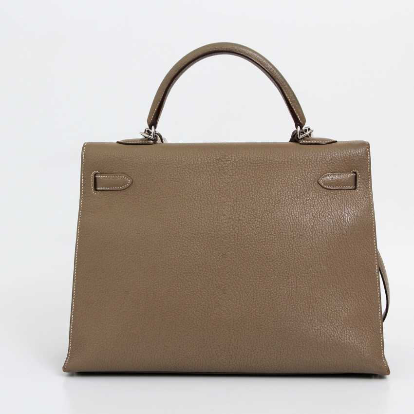 "HERMÈS exclusive Handle/shoulder bag ""SELLIER KELLY BAG 35"", collection 2006. - photo 5"