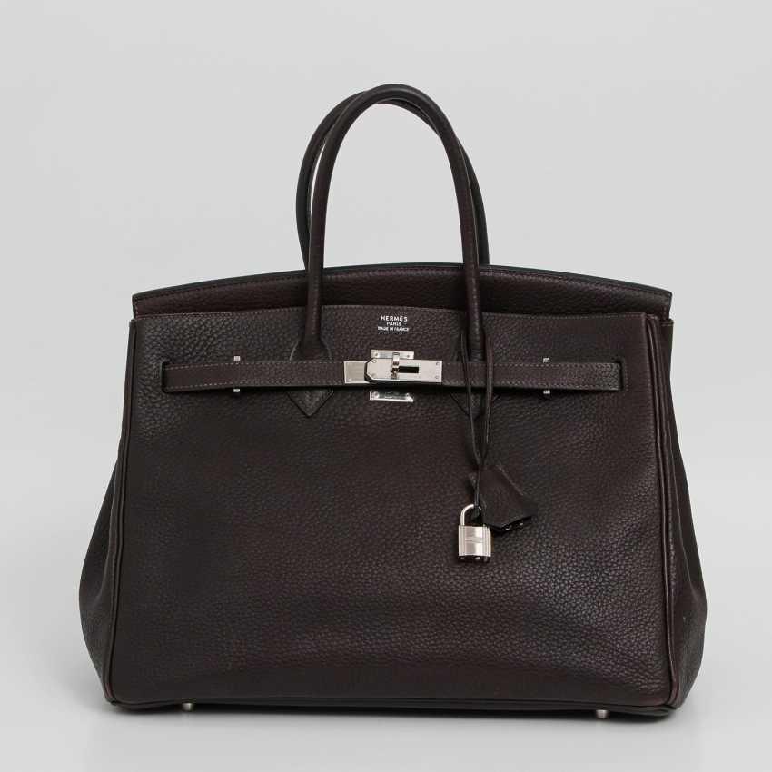 """HERMÈS exclusive handbag """"BIRKIN BAG 35"""", collection 2003. - photo 1"""