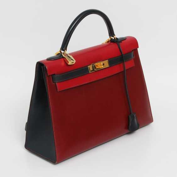 "HERMÈS VINTAGE outlandish Style Icon Handtasche ""SELLIER KELLY BAG 32"". - photo 4"