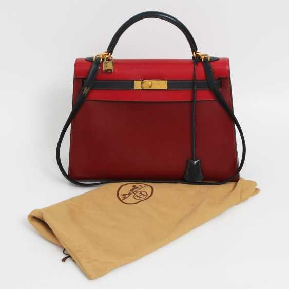 "HERMÈS VINTAGE outlandish Style Icon Handtasche ""SELLIER KELLY BAG 32"". - photo 5"