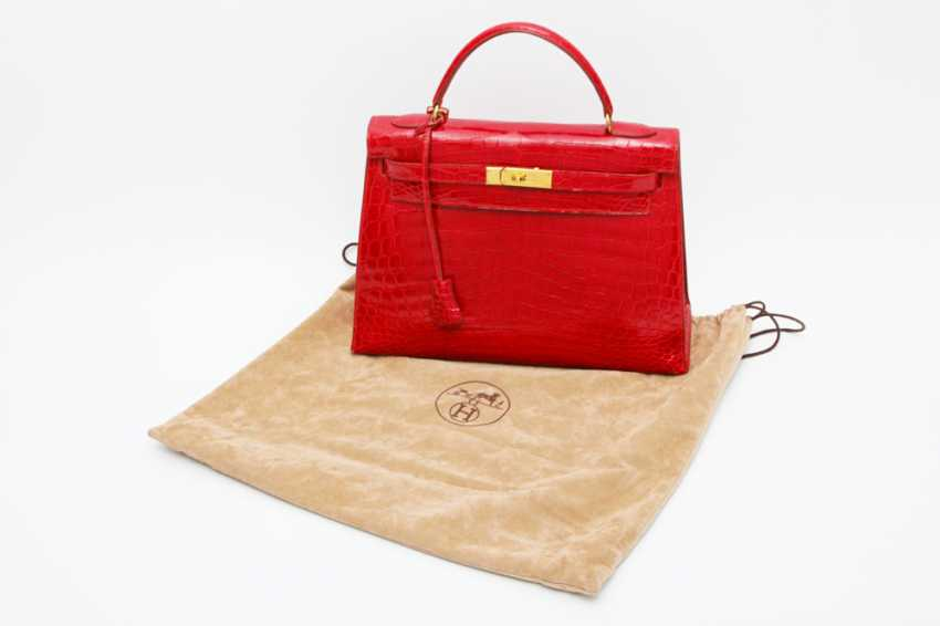 """HERMÈS exquisite handbag """"KELLY BAG 32"""", collection in 1997. Factory price approx.: 40.000,-€. MINT!! - photo 6"""
