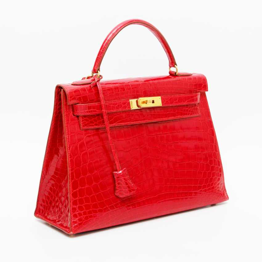 """HERMÈS exquisite handbag """"KELLY BAG 32"""", collection in 1997. Factory price approx.: 40.000,-€. MINT!! - photo 2"""