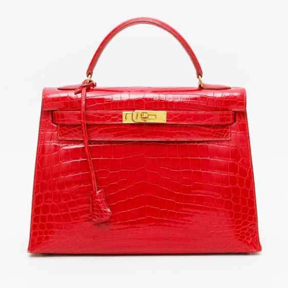 """HERMÈS exquisite handbag """"KELLY BAG 32"""", collection in 1997. Factory price approx.: 40.000,-€. MINT!! - photo 1"""