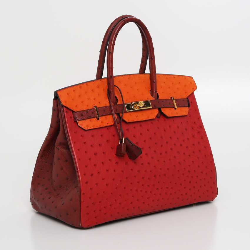 "HERMÈS exquisite It-Bag ""BIRKIN BAG 35"", collection 2006. - photo 2"