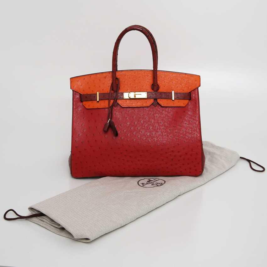 "HERMÈS exquisite It-Bag ""BIRKIN BAG 35"", collection 2006. - photo 5"