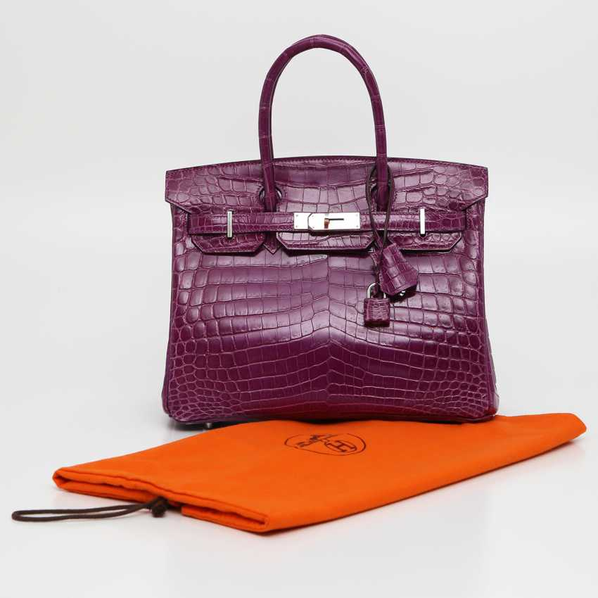 "HERMÈS exquisite It-Bag ""BIRKIN BAG 35"", collection 2011. - photo 5"