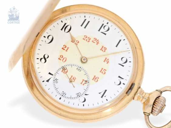 Pocket watch: fine red-gold Savonnette, Precision, Anker clock, Zenith No. 1707297, around 1900 - photo 1