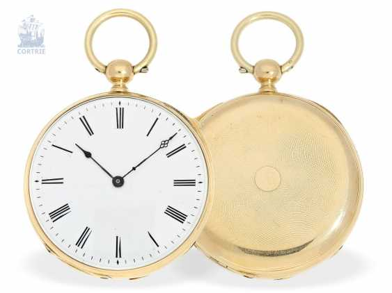 Pocket watch: early pocket watch with Repetition and fine lever movement, approx. in 1850 - photo 1