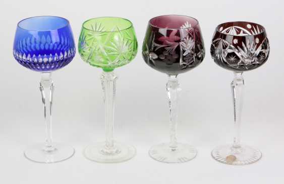 4 crystal goblets - photo 1