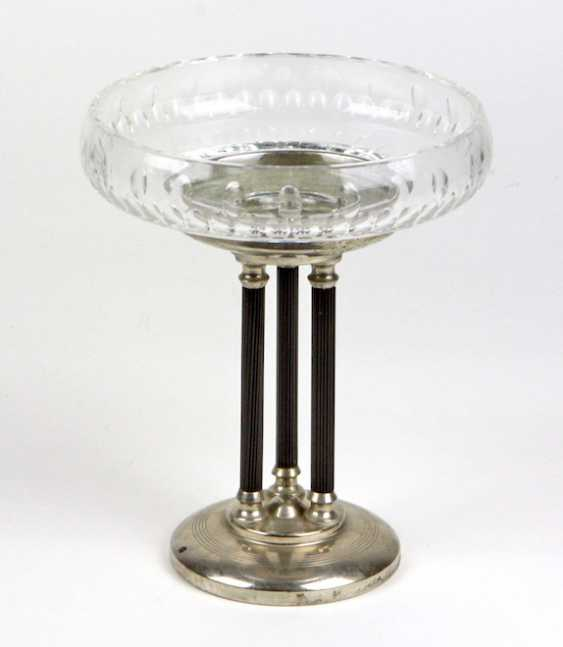Art Deco centerpiece with crystal bowl - photo 1