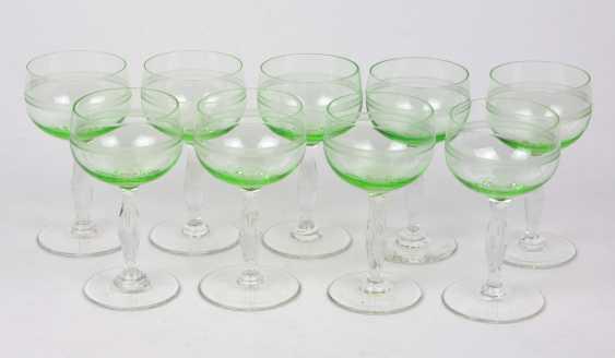 Set of art Nouveau uranium glass goblets 1920s - photo 1