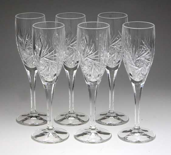 Set Of Crystal Champagne Flutes - photo 1
