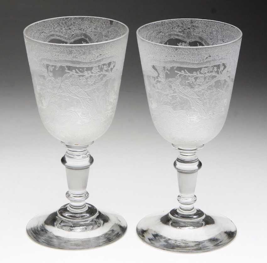 2 wine goblets circa 1920 - photo 1