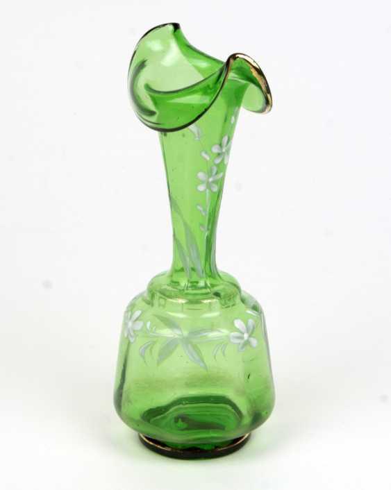 Art Nouveau Vase Enamel Painting - photo 1