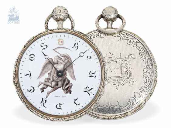 Pocket watch: unique French repetition watch with rare materials and special dial with enamel painting, signed Droz, France, 1809-1819 - photo 1