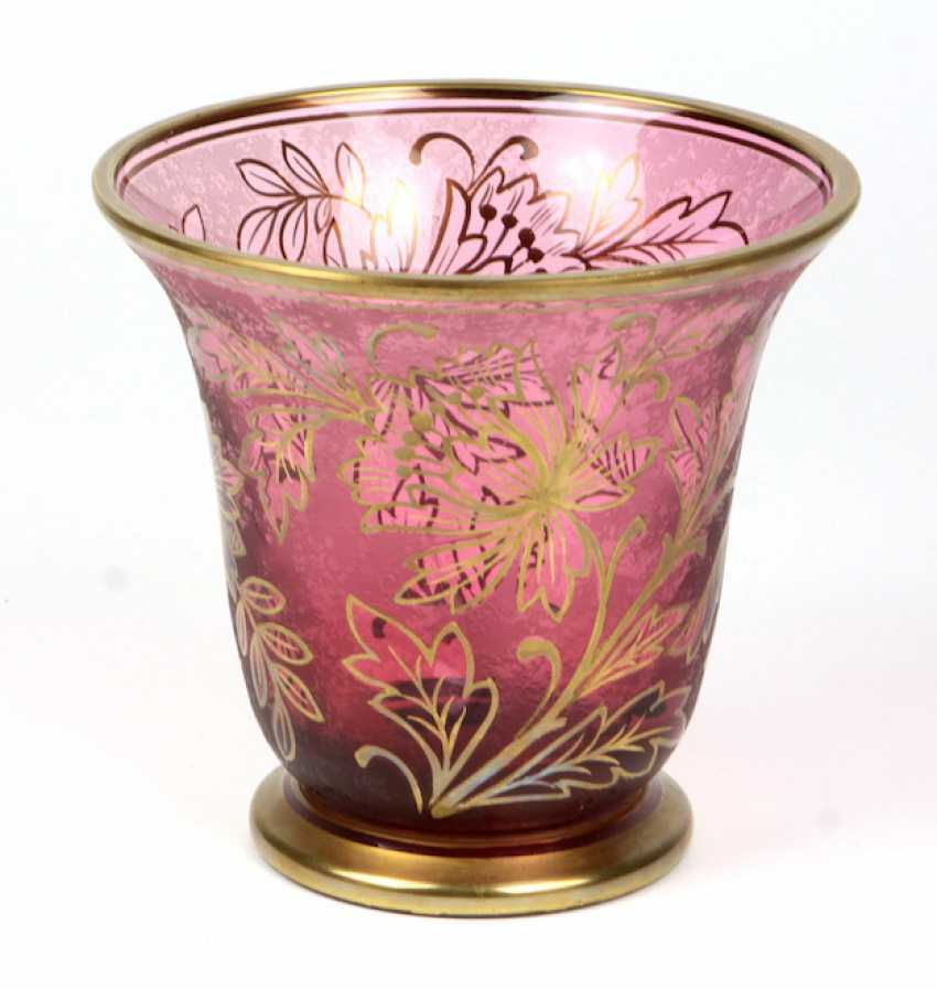 Bohemian Gold Relief Vase - photo 1
