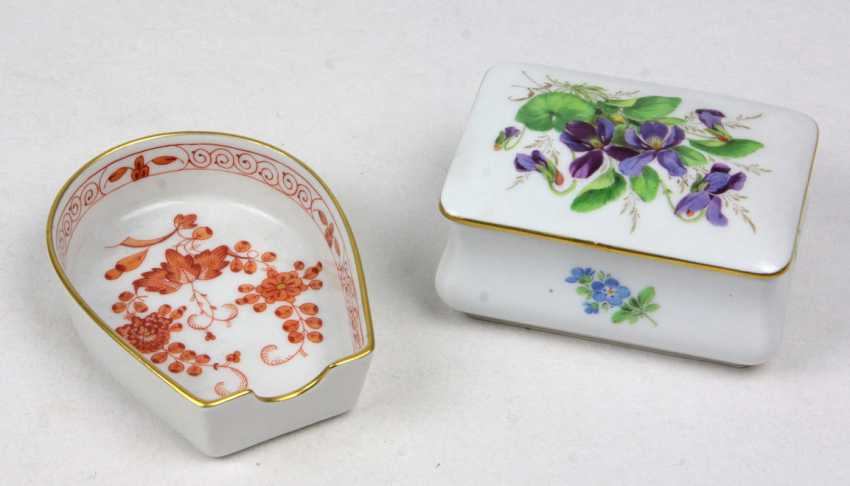 Meissen lidded box & ash-tray - photo 1
