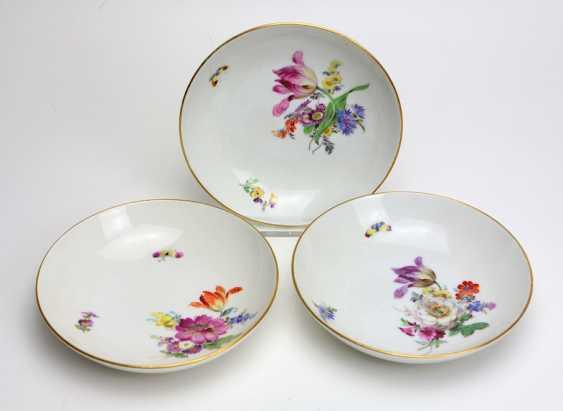 Meissen 3 Bowl *Flower Bouquet* - photo 1