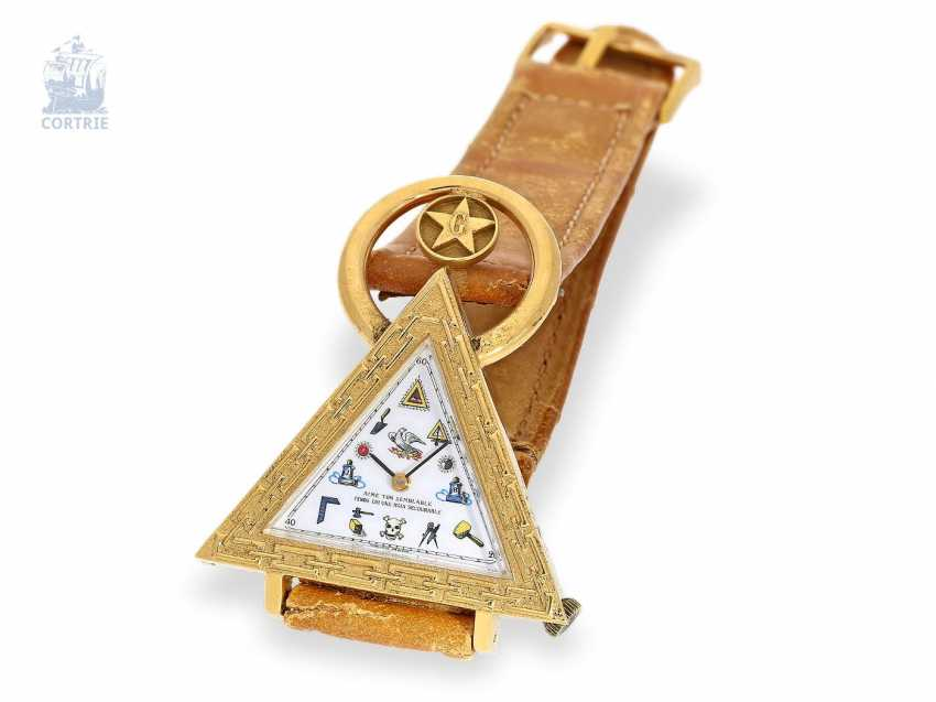 Watch: very rare vintage Masonic wrist watch, Switzerland, around 1965 - photo 1