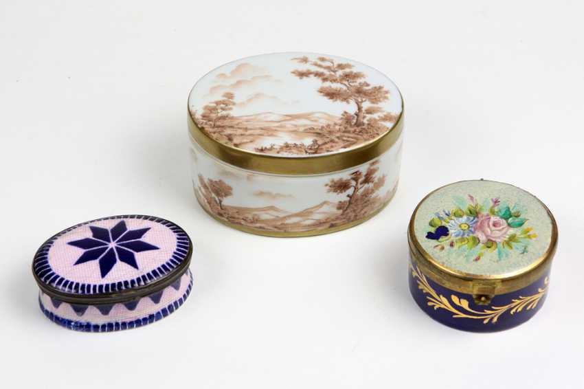 3 lid cans around 1900 - photo 1