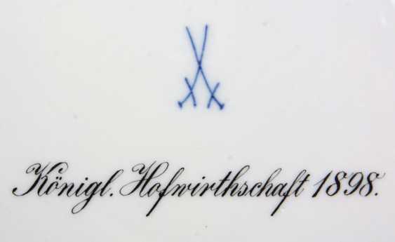 Meissen rare plate Königl. Hofwirthschaft 1898 - photo 2