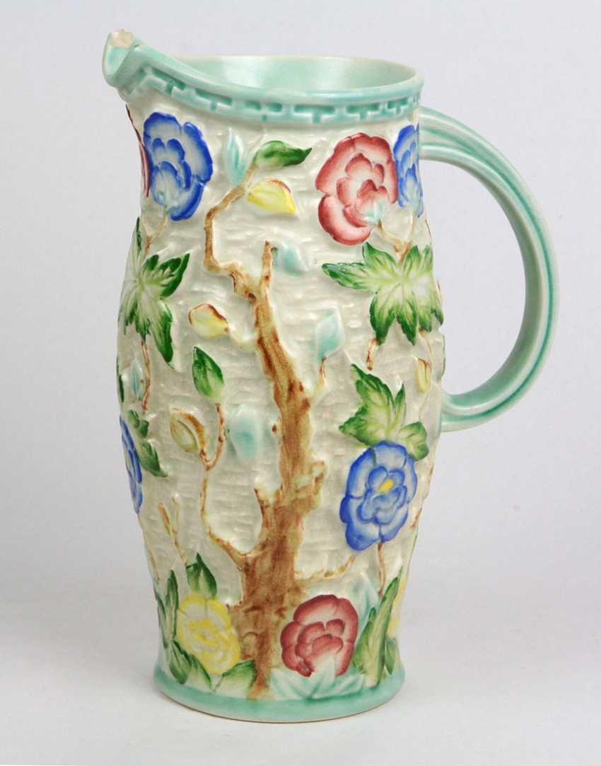 hand-painted relief pitcher - photo 1