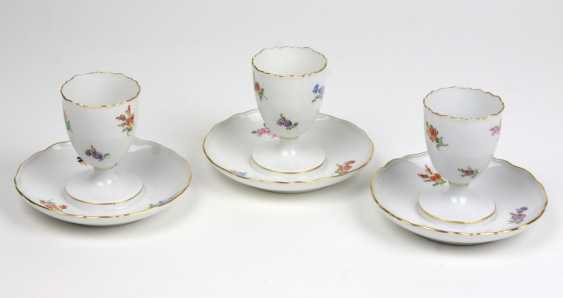 Meissen Set Of Egg Cups *Flowers* - photo 1