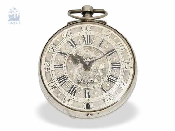 Pocket watch: early English pocket watch, Simon Decharmes, London, 1710 - photo 1
