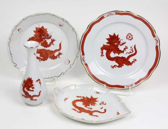 4 Teile Roter Ming Drache - photo 1