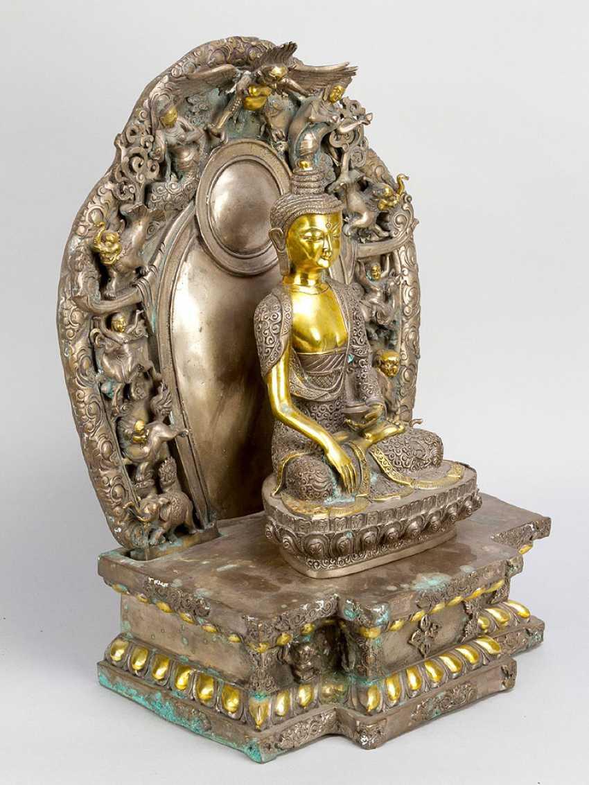 Shakyamuni with altar shrine - photo 3