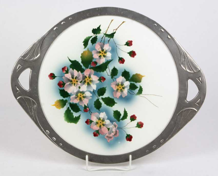 Art Nouveau Cake Plate *Flower Branch* - photo 1