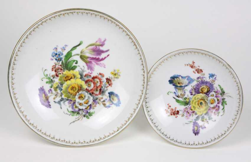 2 Centrepieces Dresden Hand Painting - photo 2