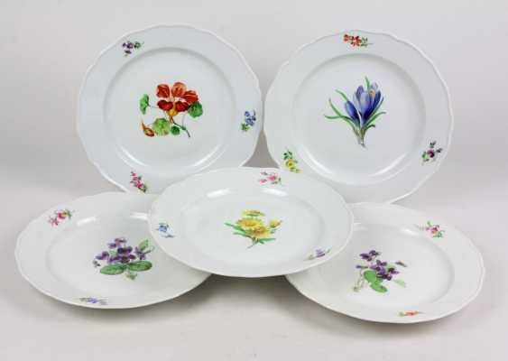 Meissen 5 Plates *Flower 1* - photo 1