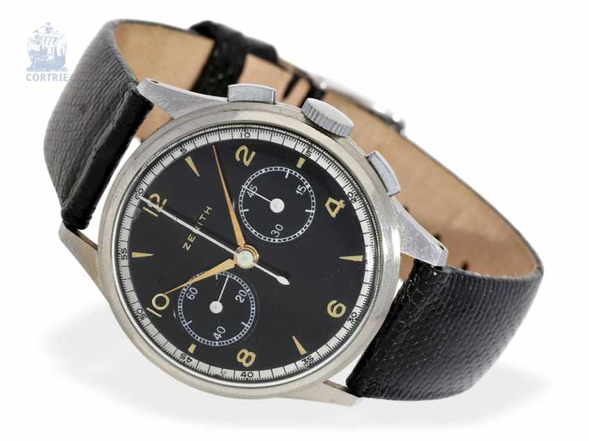 Watch: rare early Zenith pilot's chronograph, probably from the time of the 2.WK, No. 791772 - photo 1