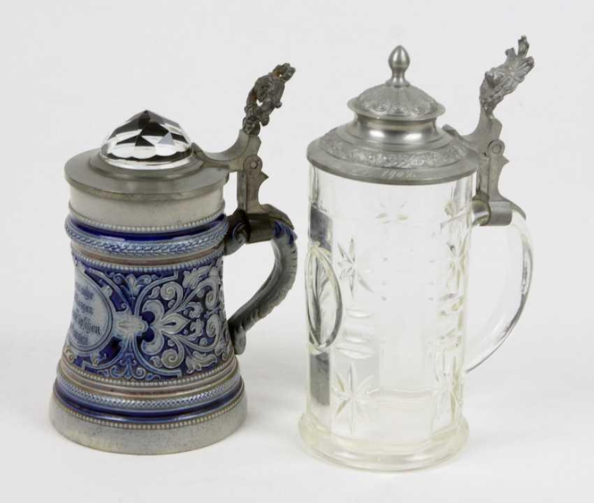 2 beer mugs around 1880/1900 - photo 1