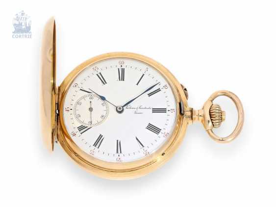 "Pocket watch: very fine Vacheron & Constantin gold savonnette, 1880, No. 8414, rare Anchor chronometer with the second ""9"" - photo 1"