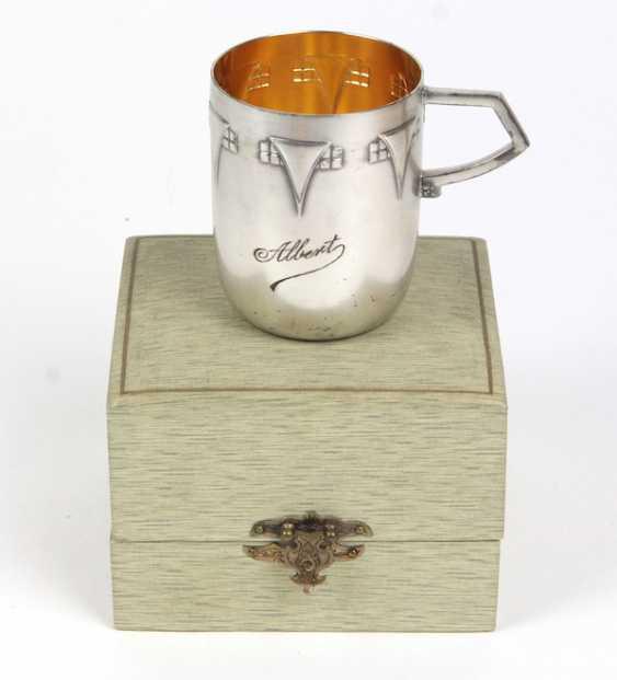 WMF art Nouveau cups in a case - photo 1