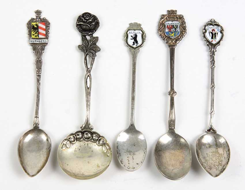 Silver spoon with enamel and other - photo 1