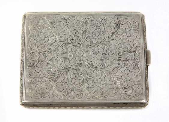engraved cigarette case - silver 800 - photo 1