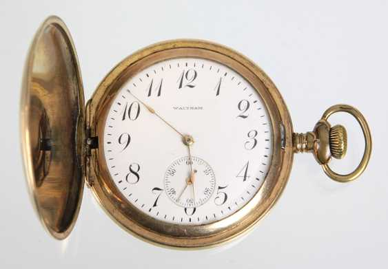 Savonette Pocket Watch, *Waltham* - Gold Double - photo 1