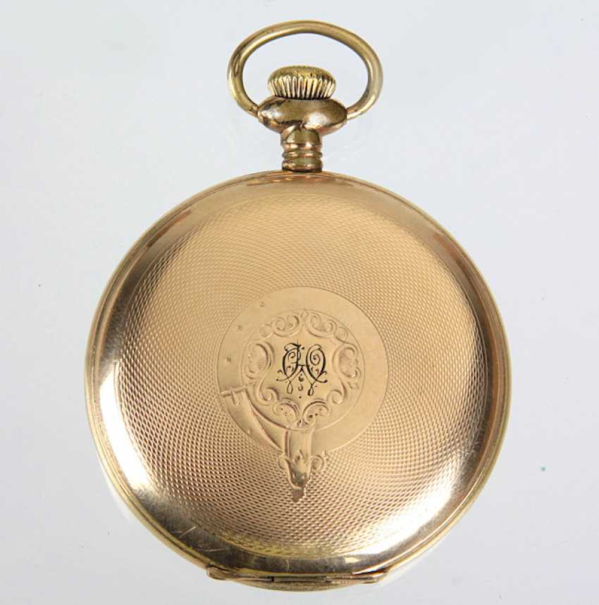Savonette Pocket Watch, *Waltham* - Gold Double - photo 2