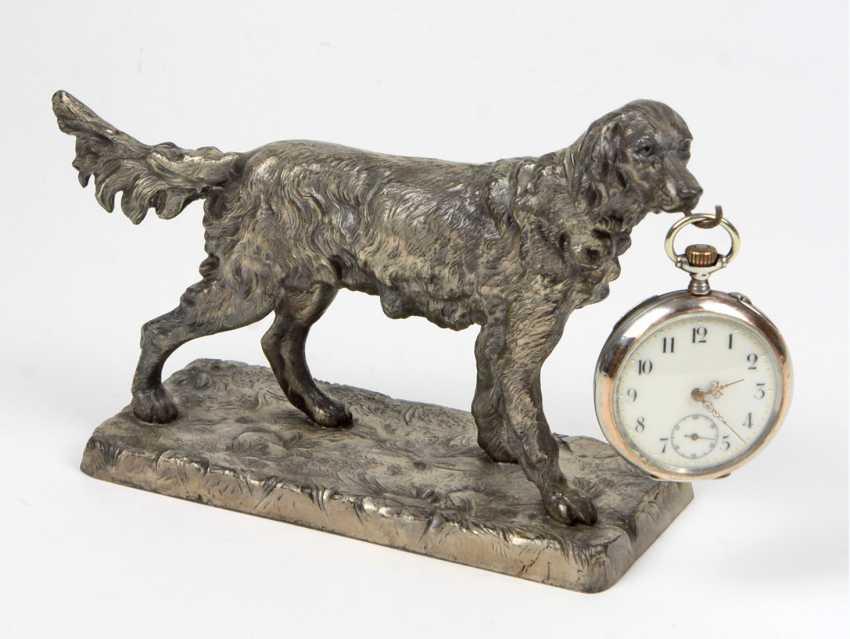 Watch holder hunting dog pocket watch - photo 1