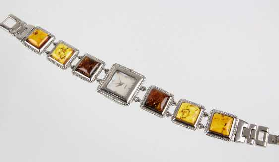 Ladies watch with amber - photo 1
