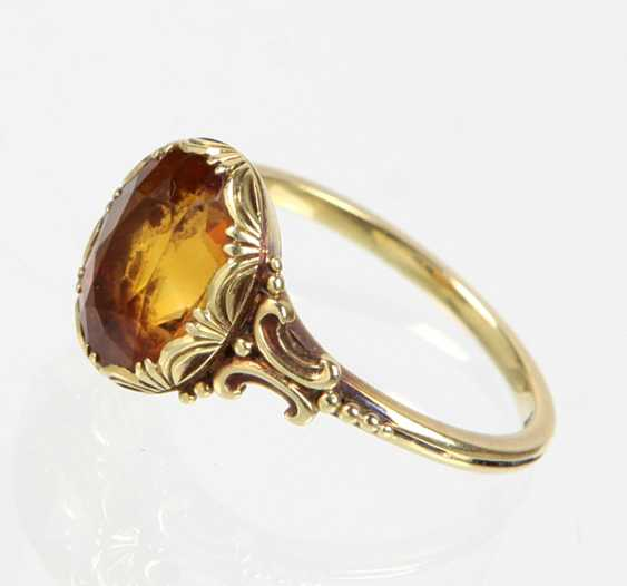 Ring mit Mandarintopas - Gelbgold 585 - photo 1
