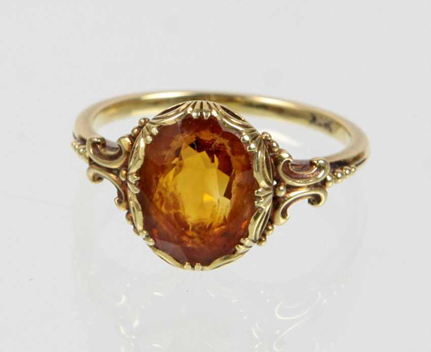 Ring mit Mandarintopas - Gelbgold 585 - photo 2