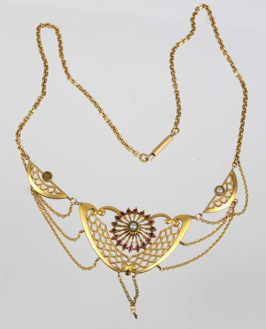 Art Nouveau necklace circa 1900 - photo 1