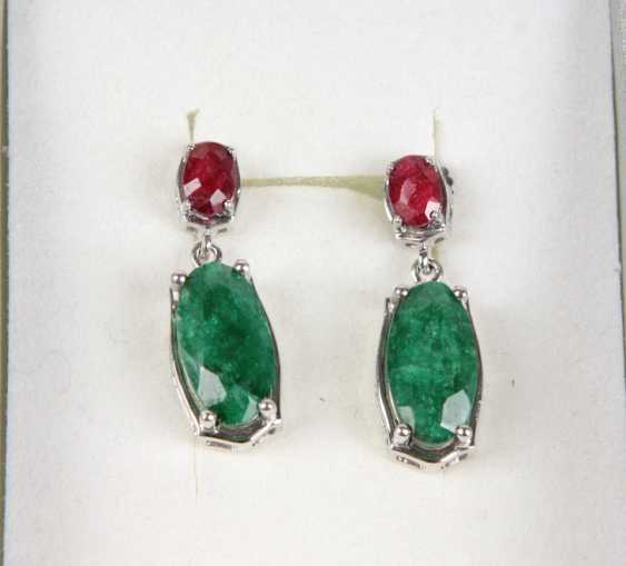 Design Emerald Ruby Earrings - photo 1