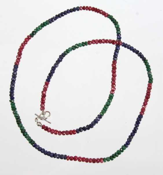 Ruby Emerald Sapphire Necklace - photo 1