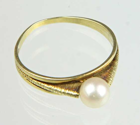 Akoya Perl Ring - Gelbgold 585 - photo 1
