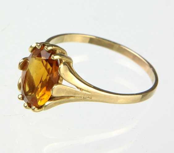 Citrin Ring - Gelbgold 333 - photo 1